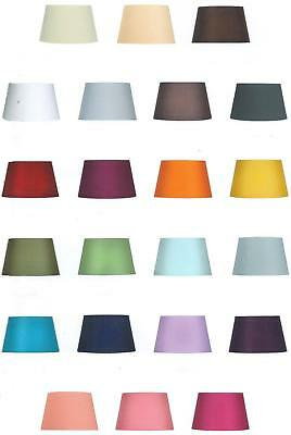 "8"" 10"" 12"" 14"" Cotton Textured Fabric Empire Drum Shade Table Ceiling Lampshade"