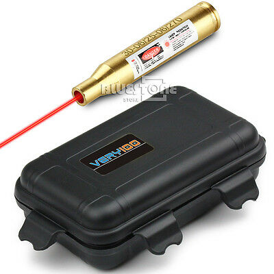30-06 25-06 and 270 Red Laser Cartridge Boresighter & Waterproof Box VERY100