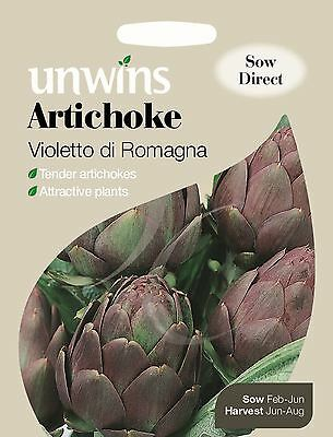 Unwins Pictorial Packet - Vegetable - Artichoke Violetto di Romagna - 25 Seeds