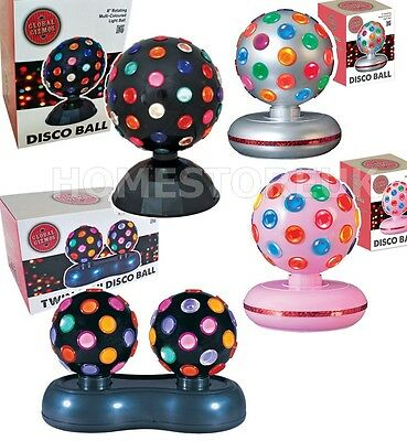 ROTATING DISCO BALL LIGTHING STAGE DANCE PARTY NIGHT FLASHING MULTI COLOUR LIGHT
