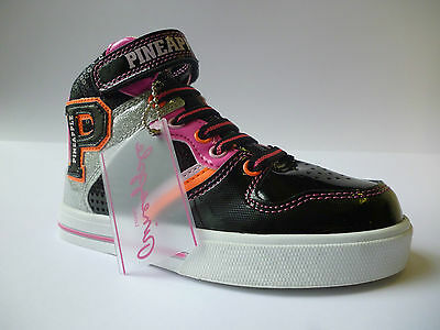 Pineapple Girls Rockin Hi Top Trainers Black Size Silver Pink Size 11 New