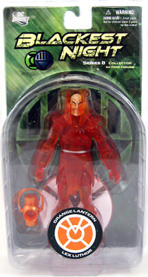 DC Direct Blackest Night Series 8 Orange Lantern LEX LUTHOR 7in Action Figure