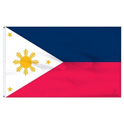 3x5 Philippines Super-Poly Flag 3'x5' House Banner Brass Grommets Fade Resistant