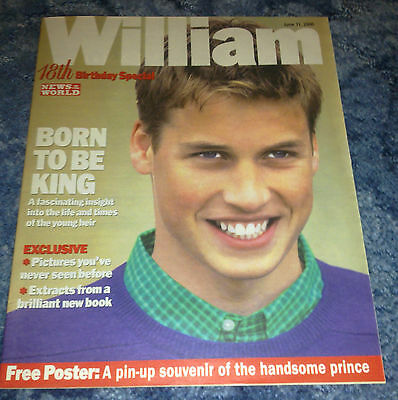 Prince William 18th Birthday NOTW Magazine Supplement Ex Kate Royalty Monarchy