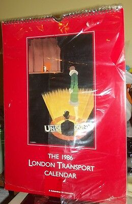 ~VINTAGE London Underground Transport Calendar 1986 NEW UNUSED RARE!