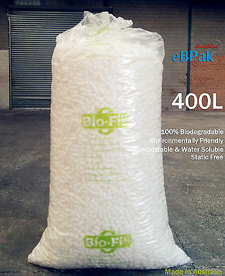 400 Litre BioFill Void Fill Loose cushioning Peanuts Packing Nuts + FREE Tape