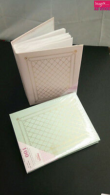 Photo Album Hold 100 Photos 5x7 inch Pink / Green Color Organiser