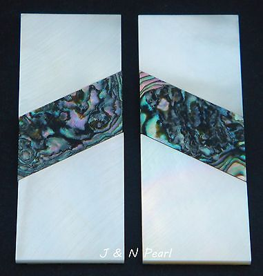 Solid Mother of Pearl Green Abalone Heart Handle Scales Inlay Blanks,CNC Cut