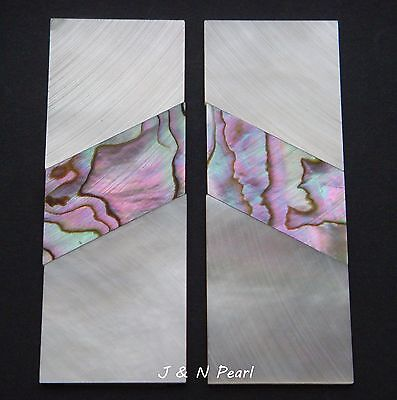 Solid Mother of Pearl Abalone Handle Scales Inlay Blanks Selected Pink,CNC Cut