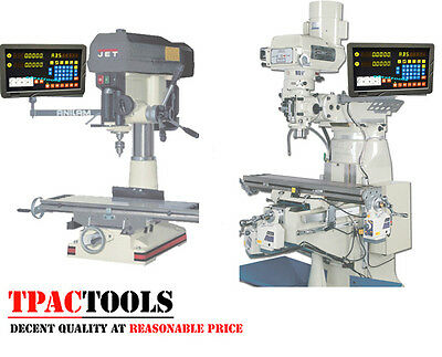Dro 2 Axis Mill Bridgeport Package Linear Glass Scales New Free Shipping