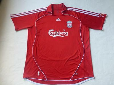 Liverpool FC 06/08 Adults XL Home Adidas Football Shirt Camiseta Soccer Jersey