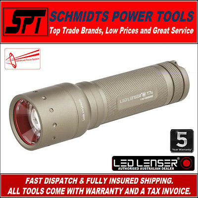 Led Lenser T7.2 Tactical Led Torch Advanced Focus Tan Flashlight Zl1026