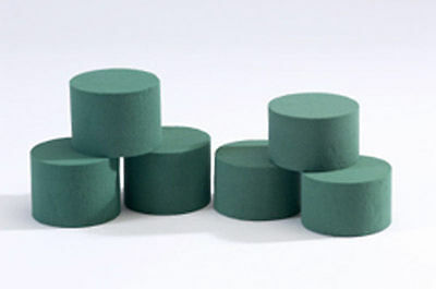 453210 Pack of 3 OASIS® Ideal Foam Cylinders WET/FRESH (8cm x 6cm) [0387]