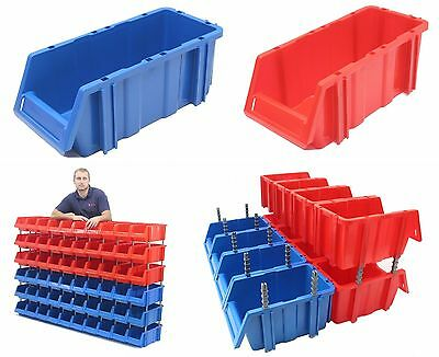 Stakabin Midi Free Standing & Stackable Plastic Parts Storage Bins Boxes Box x10