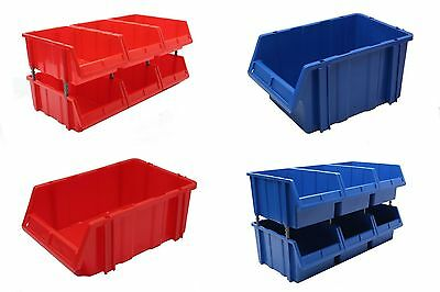 Stakabin Maxi Free Standing & Stackable Plastic Parts Storage Bins Boxes Box x 6