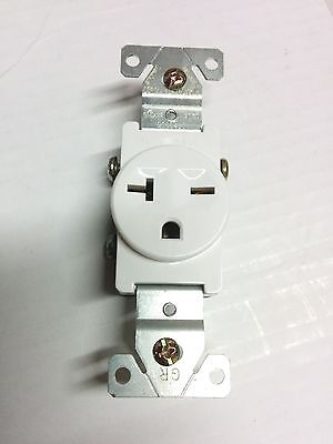 1 PC) SINGLE Receptacle 20 Amp 20A 250V AC Outlet 2 Pole 3 Wire ...