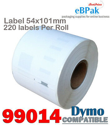 100 x 99014 54x101mm 220pcs/Roll Thermal Address Label Compatible for DYMO SEIKO