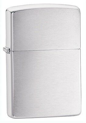 Zippo Brushed Chrome Lighter,  Item 200, New In Box, Engraved Free