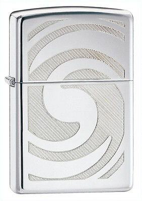 Zippo Windproof 3D Abstract High Polished Chrome Lighter, 28286, New In Box