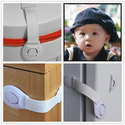 White Functional Child Baby Safety Care Fridge Drawer Door Cabinet Cupboard Lock