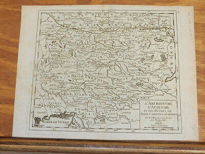 1748 Antique Map//ARCHDUCHY OF AUSTRIA & DUCHIES OF STIRIE, CARINTHIE & CARNOILE