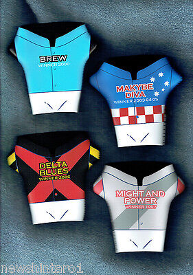 #II. FOUR MELBOURNE CUP STUBBY HOLDERS = MIGHT & POWER, MAKYBE DIVA, etc