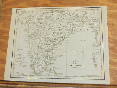 c1760 Antique Map//EAST INDIES (MAP TITLE), Actually a MAP OF INDIA
