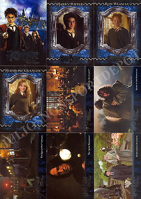 Harry Potter And The  Prisoner Of Azkaban Movie 2005 Artbox Base Card Set Of 90