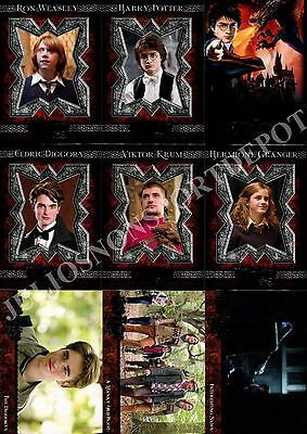 Harry Potter And The Goblet Of Fire Movie 2005 Artbox Base Card Set Of 90
