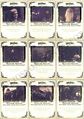 Harry Potter Memorable Moments Series 1 2006 Artbox Base Card Set Of 72 Movie