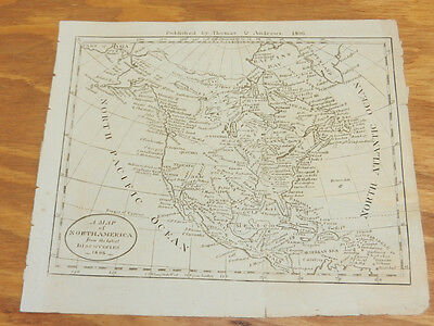 1806 Antique Map//NORTH AMERICA, FROM THE LATEST DISCOVERIES