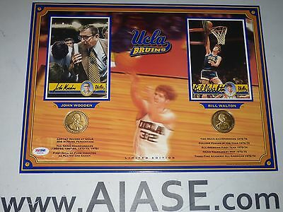 John Wooden & Bill Walton Signed UCLA 12x16 Limited Edition Display PSA/DNA COA