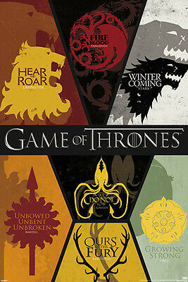 GAME OF THRONES OURS IS THE FURY POSTER (61x91cm)  PICTURE PRINT NEW ART