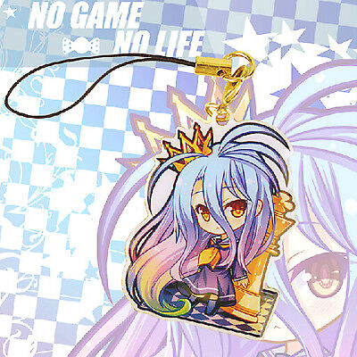Japanese Anime No Game No Life Shiro Characters Pendants Keychains Phone Strap
