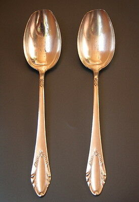 2 Vintage Soviet SOUP TABLE SPOONS MELCHIOR CUPRONICKEL SILVER PLATED USSR ZISh