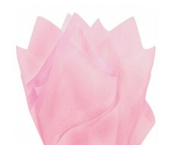"LIGHT BABY PINK Tissue Paper Sheets 50cm x 75cm - 18gsm  20"" x 30"" Acid Free"