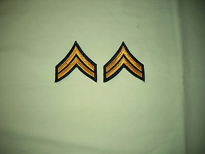 Pair of Corporal's Chevrons, 3-Inchs Wide & Unused, 1950's issue