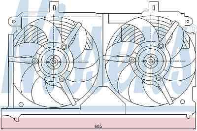 Nissens Cooling Fan 85011 Fit with Citroen Saxo