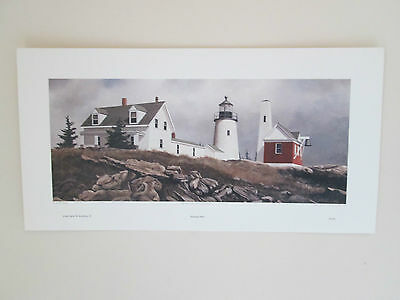 PEMAQUID POINT limited edition David Knowlton III print S/N