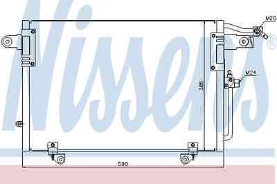 Nissens Condenser 94214 Fit with Audi 100