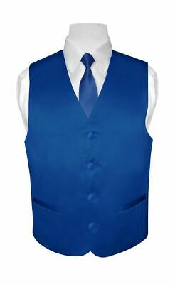 BOY'S Dress Vest & NeckTie Solid ROYAL BLUE Color Neck Tie Set for Suit or Tux