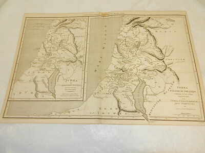 1819 Antique Map//TERRA FILIORUM ISRAELIS & JUDAEA (ISRAEL AND PALESTINE)