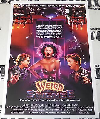 Kelly LeBrock Signed 24x36 Weird Science Movie Poster PSA/DNA COA Autograph Lisa