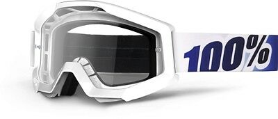 100 Motocross/Offroad Strata MX Goggles Ice Age/Clear Lens 50400-028-02 White
