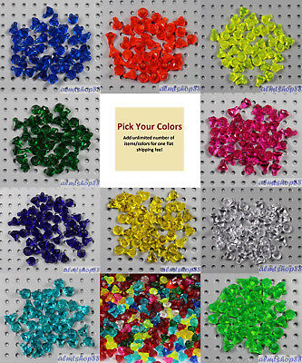 LEGO - Gems Jewels Diamond - PICK YOUR COLORS - Crystal Rocks Facet Treasure Lot