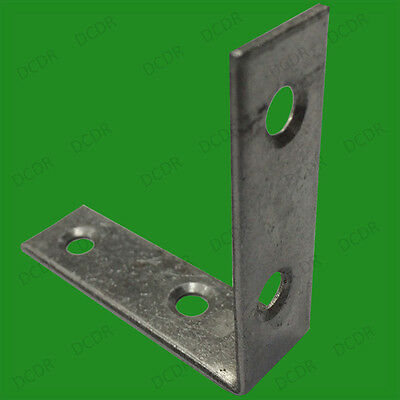 """8x 50mm (2"""") Corner Braces, No. 319 Right Angle Support Fixing Repair Brackets"""