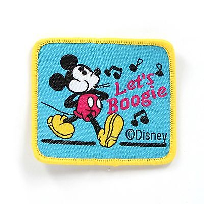 "Disney Mickey Mouse Embroidered Sew ON Patch Cloth Sew Applique 2.4""X1.9"""