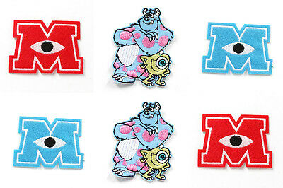 6pcs Monsters University Fabric Embroidered Iron/Sew On Patch for kids Clothes