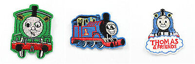 3pcs Train Thomas Embroidered Iron/Sew ON Patch Kids Cloth Applique Gift