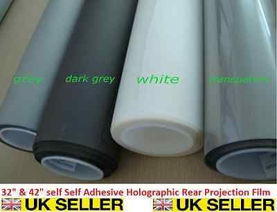 """Self Adhesive Holographic Rear Projection Screen Material Window Film 32"""" & 42"""""""